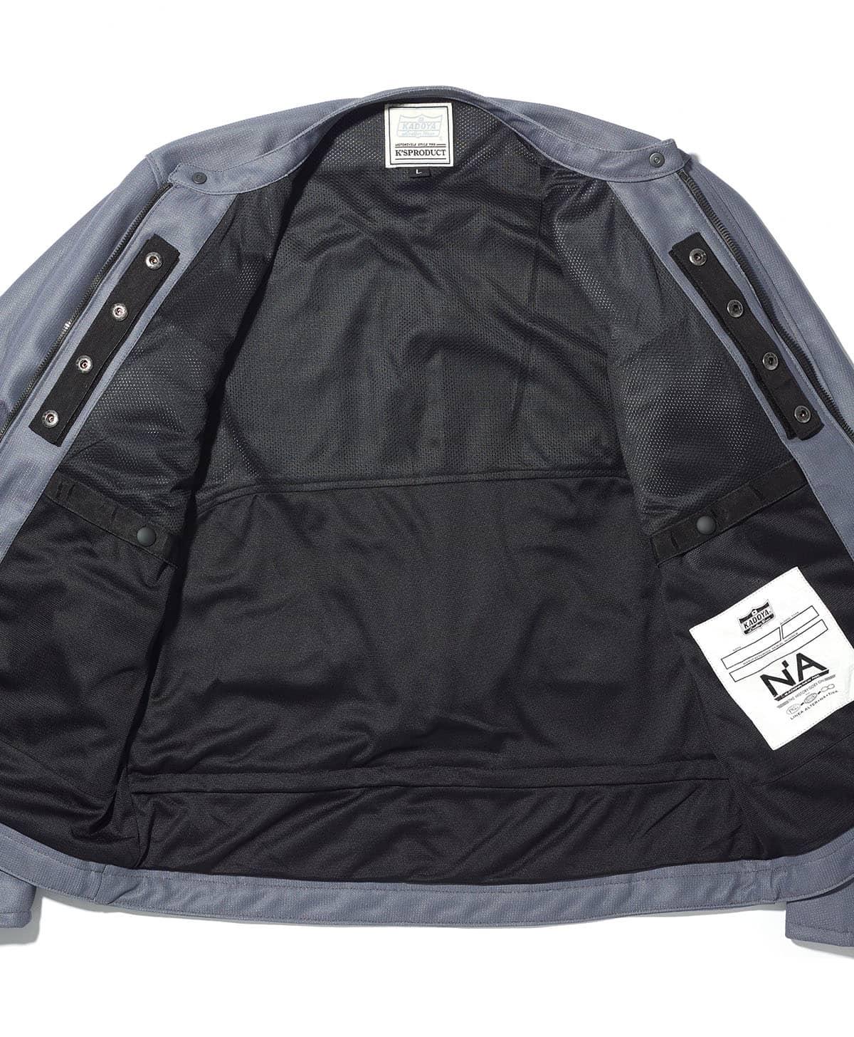予約販売 カドヤ(KADOYA) K'S LEATHER & K'S PRODUCT ACRO アクロ  メッシュジャケット グレー