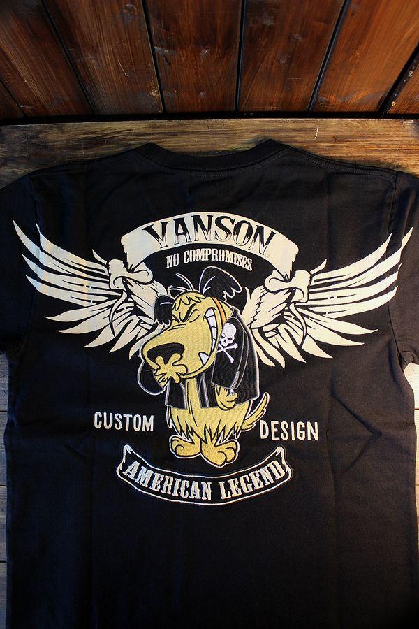 VANSON×Wacky Races チキチキマシーンモーレース ケンケン WRV-2006 天竺半袖Tee ブラック