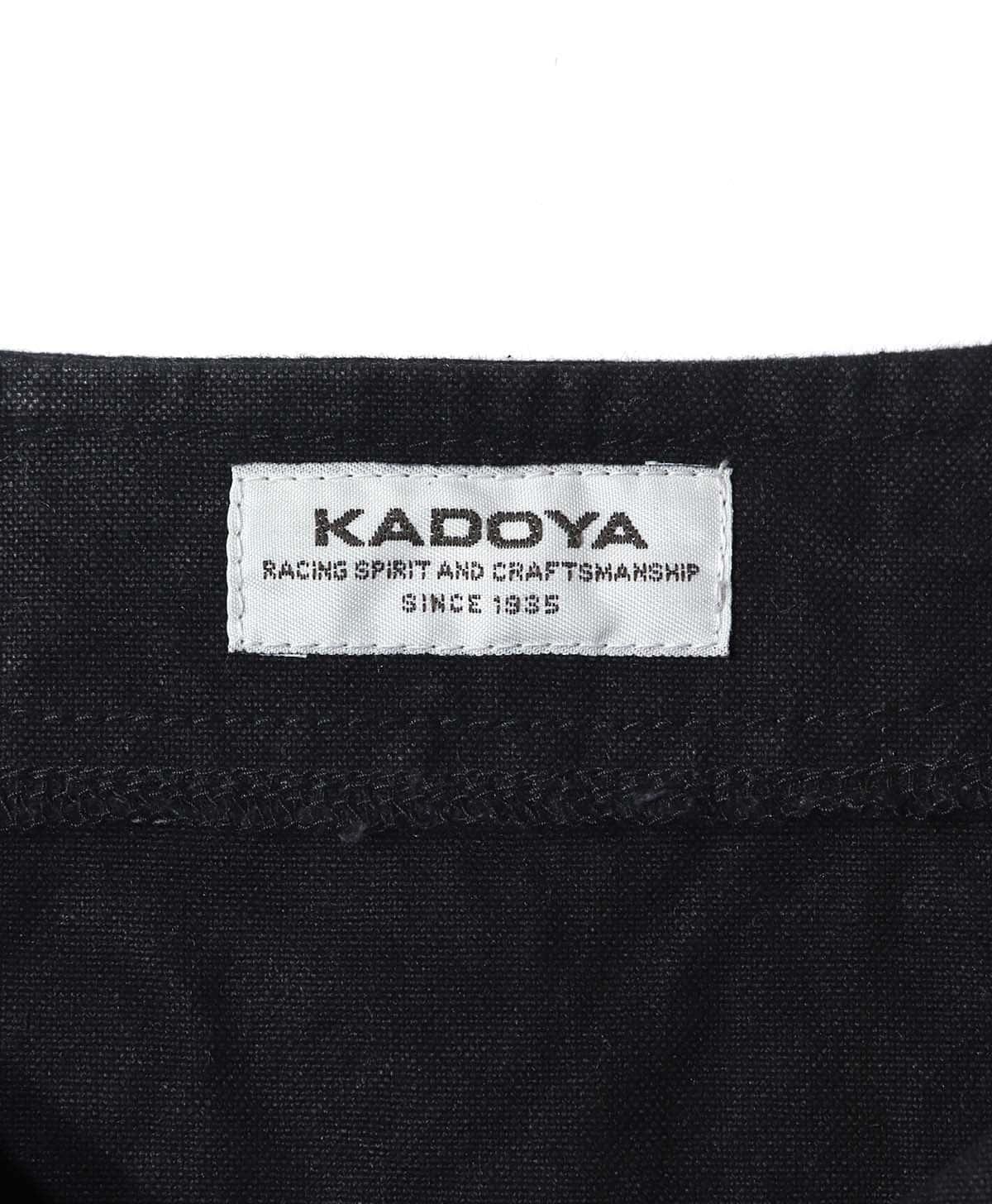 KADOYA(カドヤ) RIDERS WORK VEST ライダースワークベスト ダッグ生地ベスト ブラック