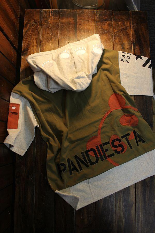 PANDIESTA JAPAN パンディエスタジャパン 551951 切替プルパーカー カーキ
