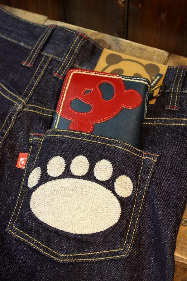 PANDIESTA JAPAN 熊猫謹製 パンディエスタ PANDIESTA 熊猫レザーワークス Zipレザーウォレット ロング 536451