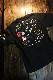 Snoopy スヌーピー 402011 半袖Tee 刺繍 半袖Tee Tシャツ バイク ブラック