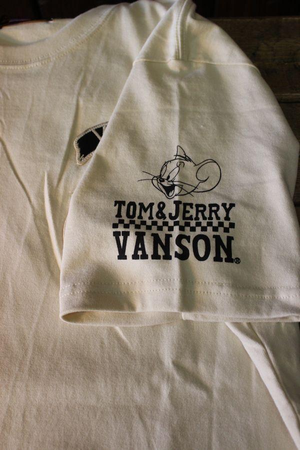 VANSON×Tom and Jerry トムとジェリーコラボ TJV-801 天竺半袖Tee