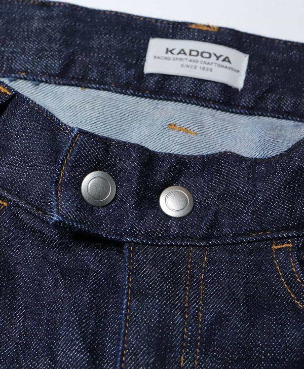 カドヤ(KADOYA) K'S LEATHER & K'S PRODUCT KJ-SCR 国産ライディングデニムパンツ ネイビー×ネイビー