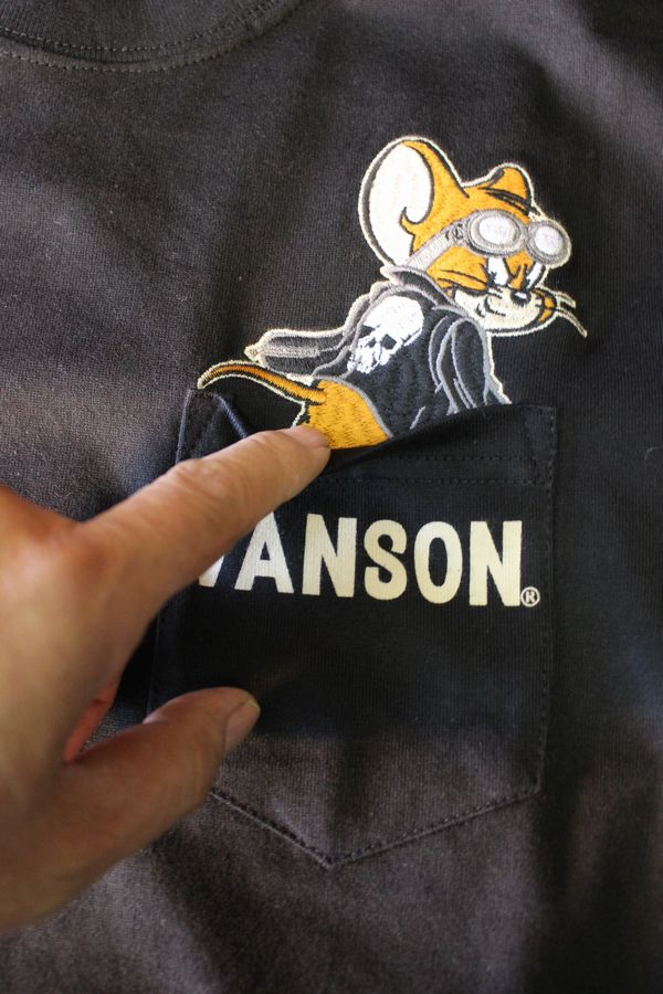 VANSON×Tom and Jerry トムとジェリーコラボ TJV-802 天竺半袖Tee