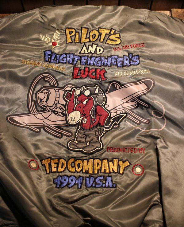エフ商会 TEDCOMPANY テッドマン TEDMAN  TMA-510 PILOT TEDMAN MA-1 飛行服  44 XLサイズ