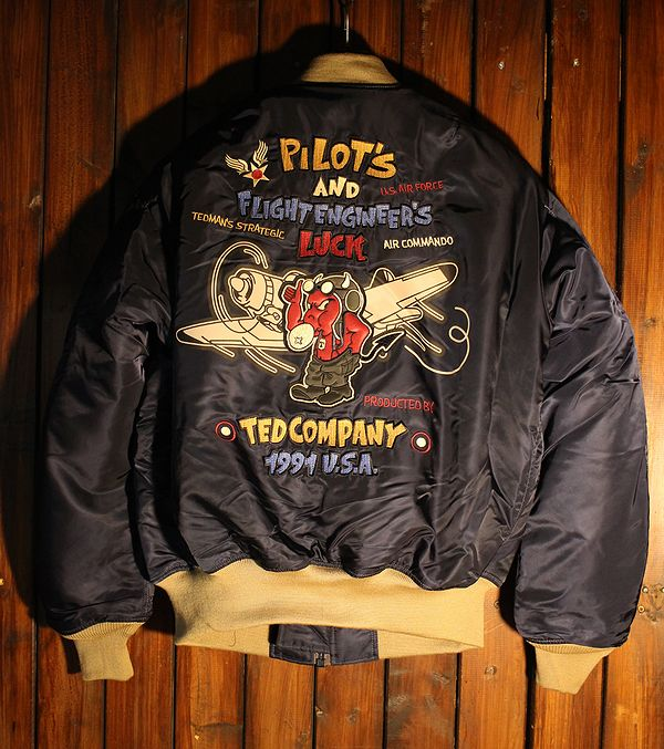 エフ商会 TEDCOMPANY テッドマン TEDMAN  TMA-510 PILOT TEDMAN MA-1 飛行服 ネイビー