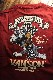 VANSON×Tom and Jerry トムとジェリーコラボ TJV-2010 コラボ半袖Tシャツ ワイン
