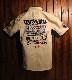 TEDMAN テッドマン TDKMS-02 TEDMAN×カミナリ ワークシャツ ハコトラ ベージュ/ネイビー