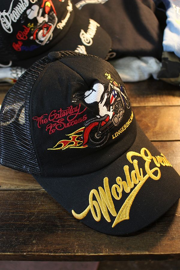 Snoopy スヌーピー 403954-20  刺繍 メッシュキャップ バイク