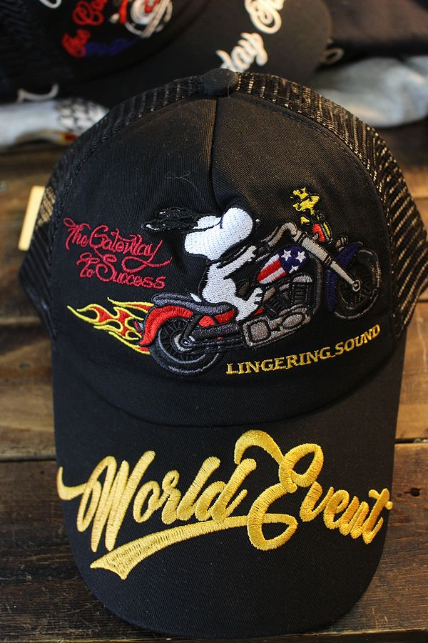 Snoopy スヌーピー 403954-21  刺繍 メッシュキャップ バイク