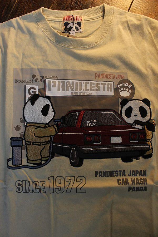 PANDIESTA JAPAN パンディエスタ 551352 ガススタTee スカイライン DR30 ベージュ