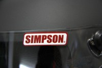 SIMPSON(シンプソンヘルメット) ステッカー S (シールドステッカー)レッド