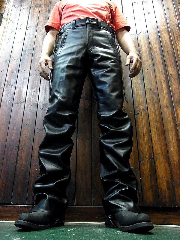 カドヤ(KADOYA) SIDEWINDER 3 サイドワインダー3 革パンツ ブーツカットシルエット バイク
