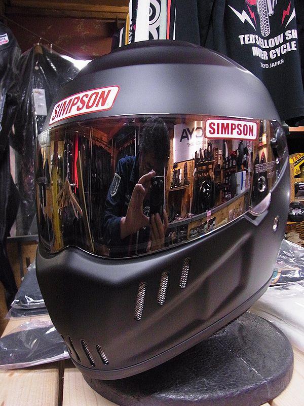 《シールドサービス》シンプソンヘルメット RX12  SPEEDWAY RX12 マットブラック