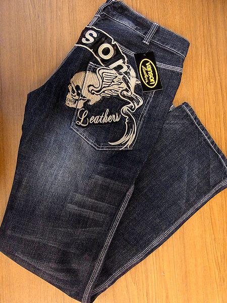VANSON バンソン VANSON バンソン デニムジーンズ パンツ ボトムス ツインスカル 刺繍 sp-b-7a