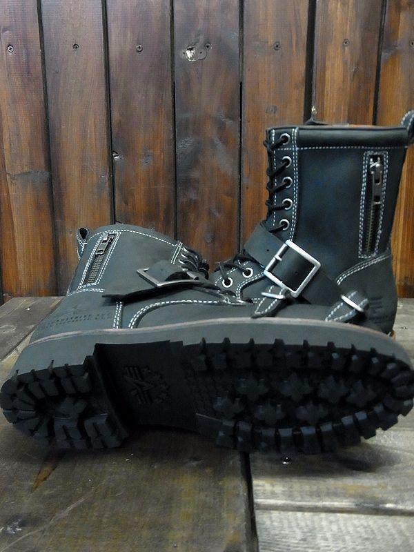 Alpha industries(アルファ) ALS-22023 レディース バイカーブーツ サイドファスナー付き ライディングブーツ ブラック