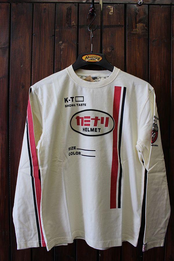 エフ商会 カミナリヘルメット KMLT-106 日章旗 ジェット 昭和 旧車 オフホワイト