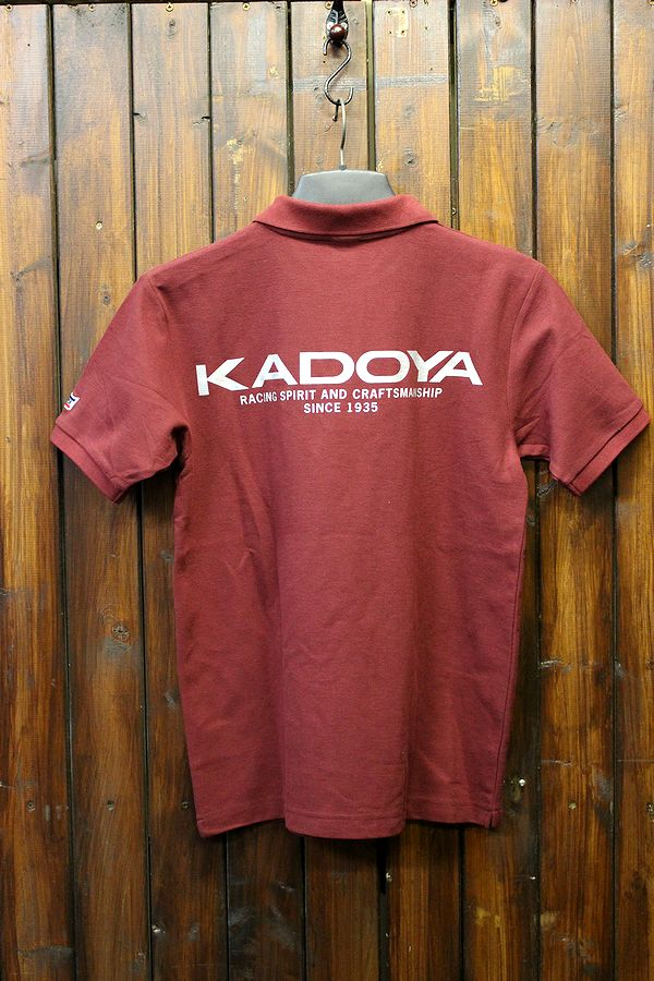 KADOYA(カドヤ) K'S PRODUCT KADOYA POLO SHIRT ポロシャツ ブルゴーニュ