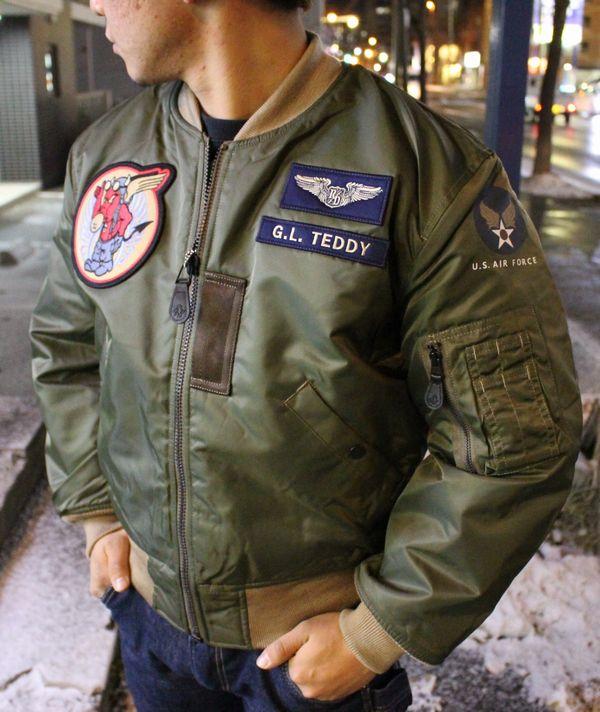 エフ商会 TEDCOMPANY テッドマン TEDMAN MA-1 TMA-480 フライトジャケット 飛行機乗り ネイビー