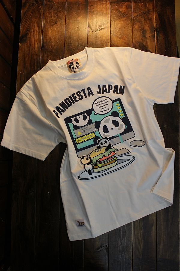 PANDIESTA JAPAN パンディエスタ 551355 ハンバーガーTee ホワイト