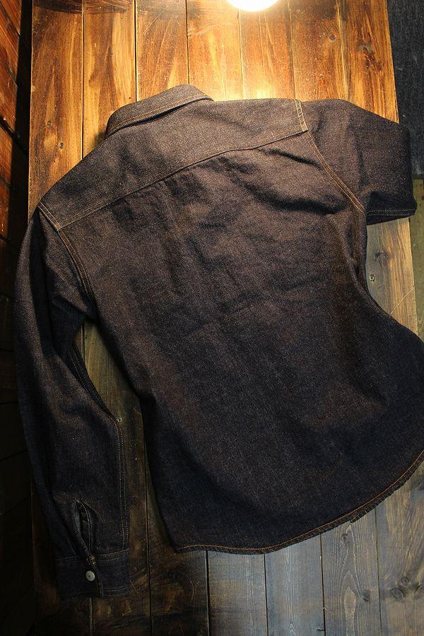 KOJIMA GENES 児島ジーンズ RNB-2015 デニムヘリンボーンコンボシャツ
