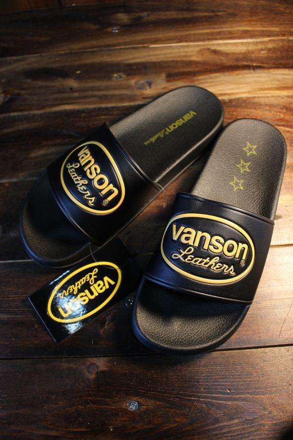 VANSON  バンソン NVSK-2002 シャワーサンダル ブラック