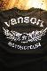 VANSON バンソン NVLT-2014 ベア天ロンTee エンボスプリント 長袖Tシャツ ブラック/シルバー