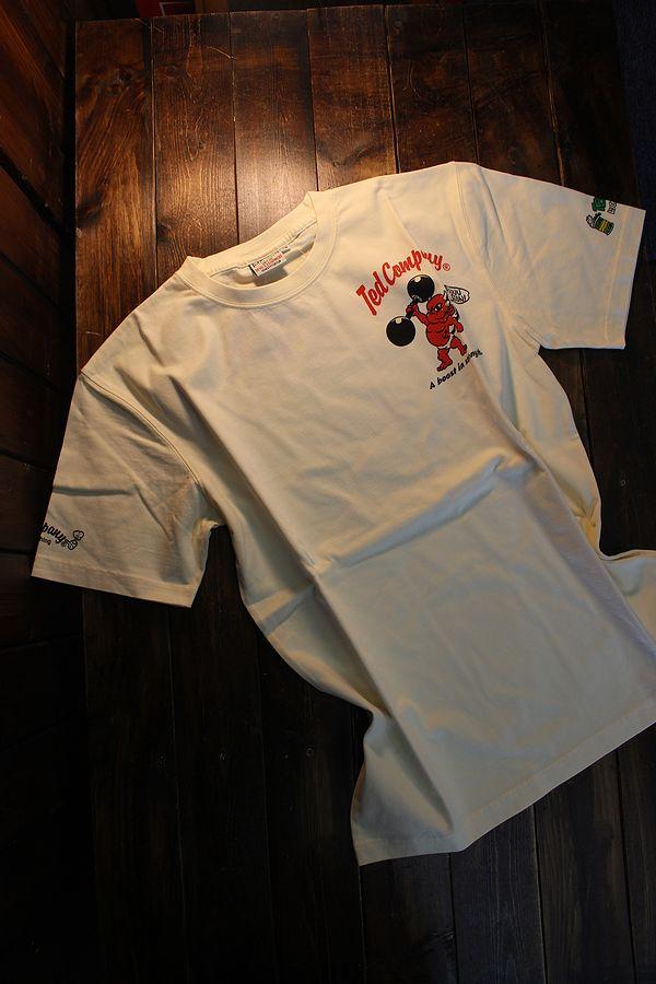 エフ商会 TEDMAN テッドマン TDSS-523 POP◯YE コットンTee Tシャツ オフホワイト