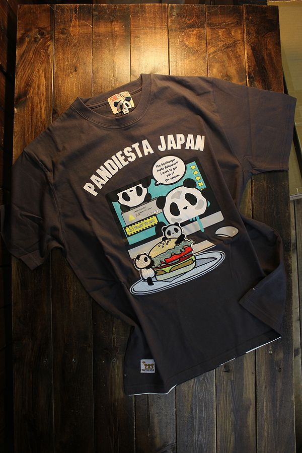 PANDIESTA JAPAN パンディエスタ 551355 ハンバーガーTee チャコール