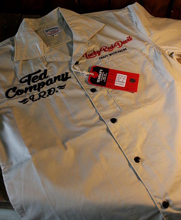 TEDMAN テッドマン TES-1100 オール刺繍シャツ  ベージュ ワークシャツ