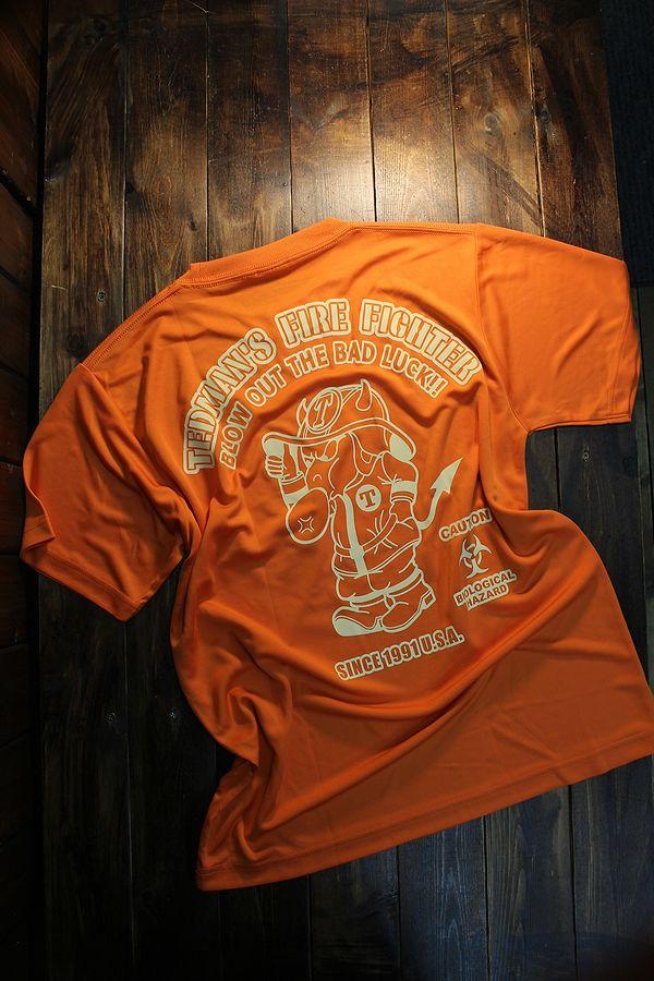 エフ商会 TEDCOMPANY TEDMAN(テッドマン) TDRYT-800 ドライTシャツ オレンジ