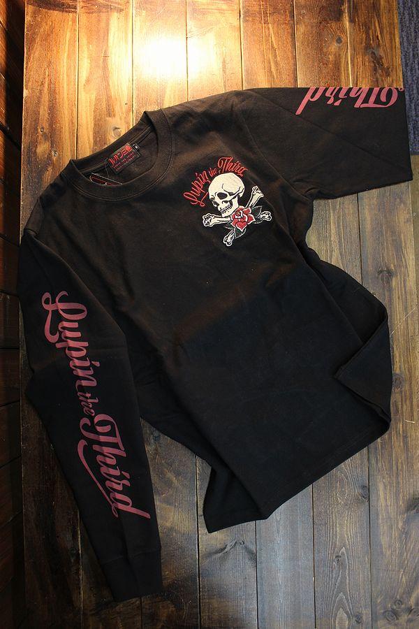 ルパン三世  LU3B-2005 天竺ロンTee 刺繍 長袖Tシャツ 峰不二子 不二子ちゃん ブラック