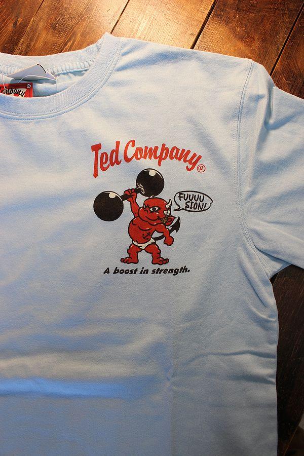 エフ商会 TEDMAN テッドマン TDSS-523 POP◯YE コットンTee Tシャツ サックス