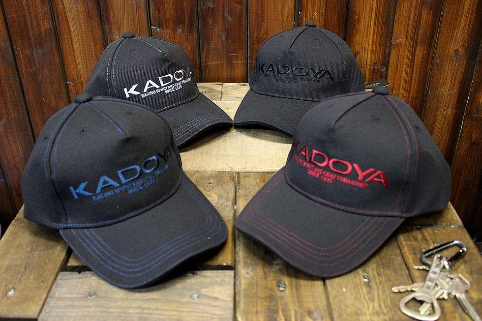 カドヤ(KADOYA)  KADOYA LOGO CAP カドヤロゴキャップ 帽子 ブラック/ワイン