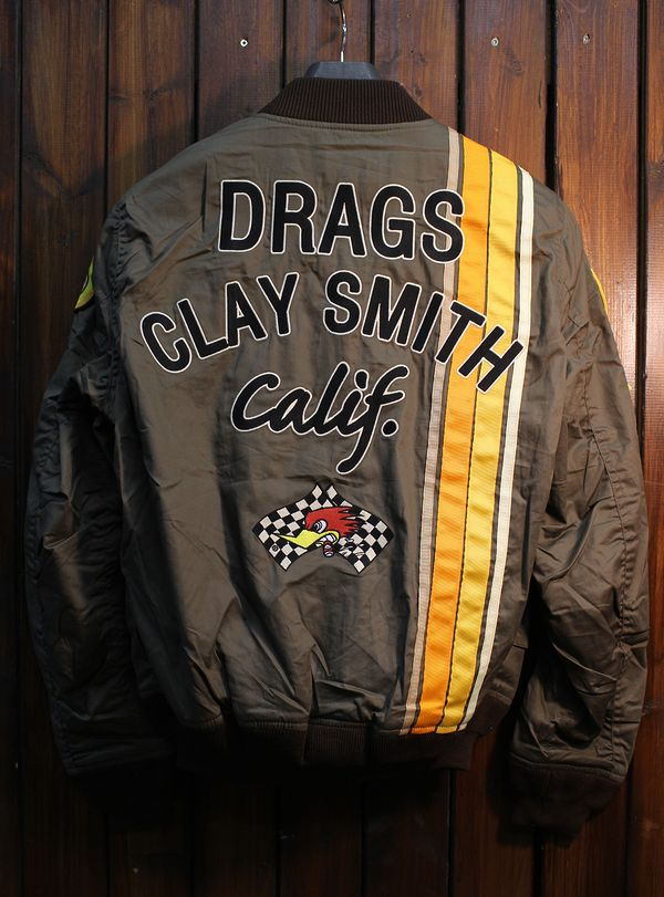 CLAY SMITH(クレイスミス) CSY-8302R TOMY SPL MA-1スタイル コットンジャケット チャコール