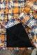 CLAY SMITH クレイスミス CSY-9506 BOZOMAN 防風インナーウェア チェックシャツ オレンジ