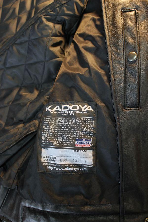 カドヤ(KADOYA) K'S LEATHER & K'S PRODUCT KW-EVO KW-エボ ダブルライダース