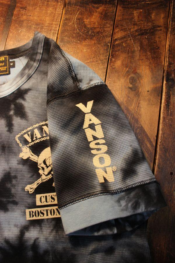 VANSON バンソン NVST-2101 サーマル半袖Tee スカル タイダイ