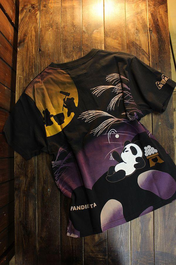 PANDIESTA JAPAN パンディエスタ 551206 十五夜パンダTee ブラック