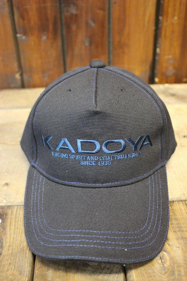 カドヤ(KADOYA)  KADOYA LOGO CAP カドヤロゴキャップ 帽子 ブラック/ネイビー