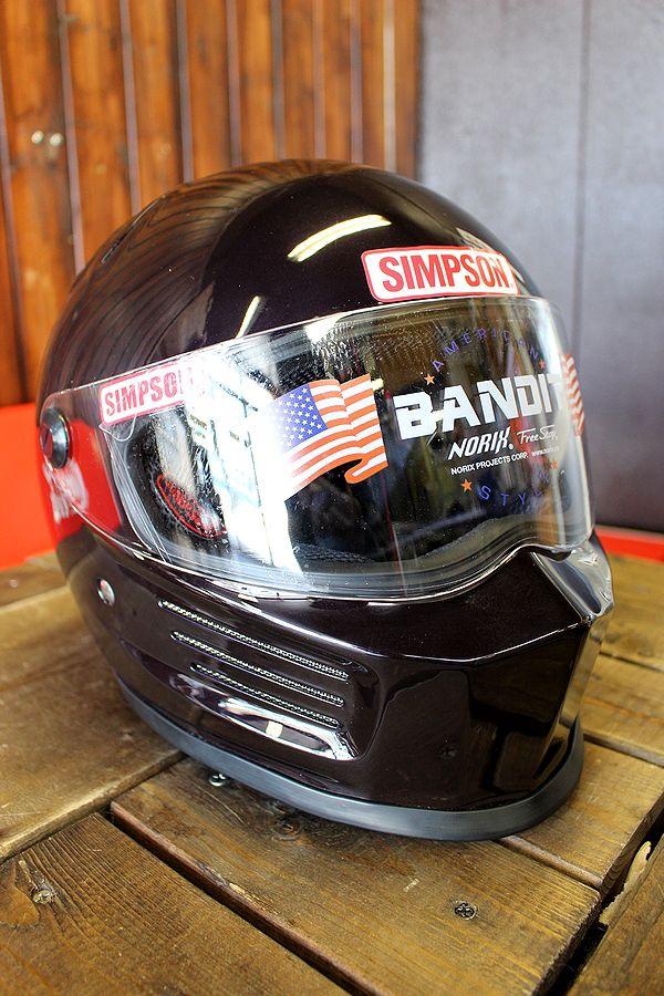 ☆シールドサービス☆シンプソン(SIMPSON) ヘルメット BANDIT  バンディット BORDEAUX ボルドー