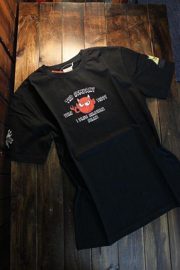 エフ商会 TEDMAN テッドマン TDSS-526  コットンTee Tシャツ ブラック