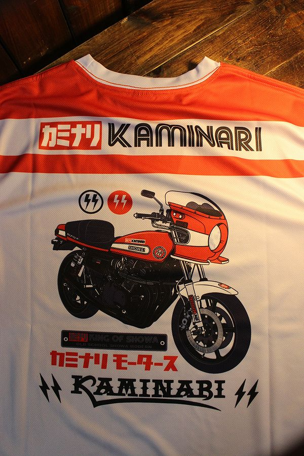 エフ商会 カミナリ  KDRYT-05 ジーエス1000ドライTee GS1000 クーリーレプリカ Tシャツ ライトグレー