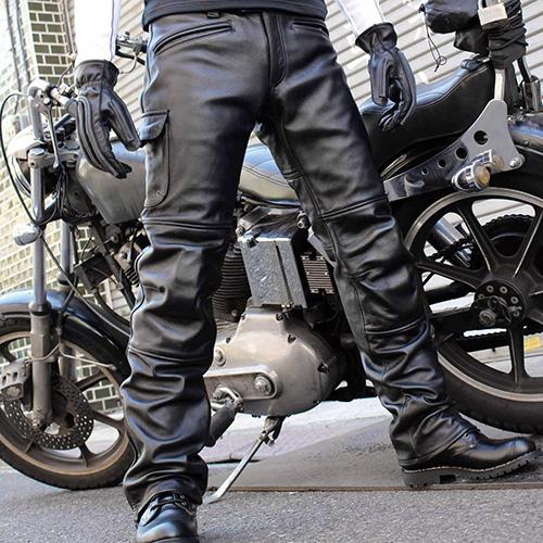 カドヤ(KADOYA)VMX-PANTS レザーパンツ 革パンツ バイクライダースパンツ