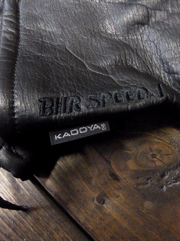 カドヤ(KADOYA) BHR-SPEED.1 BHRスピード1 レザーグローブ ブラック