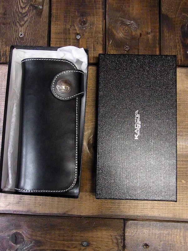 カドヤ(KADOYA)  SADDLE WALLET (L) )  サドルウォレット(L) ブラック