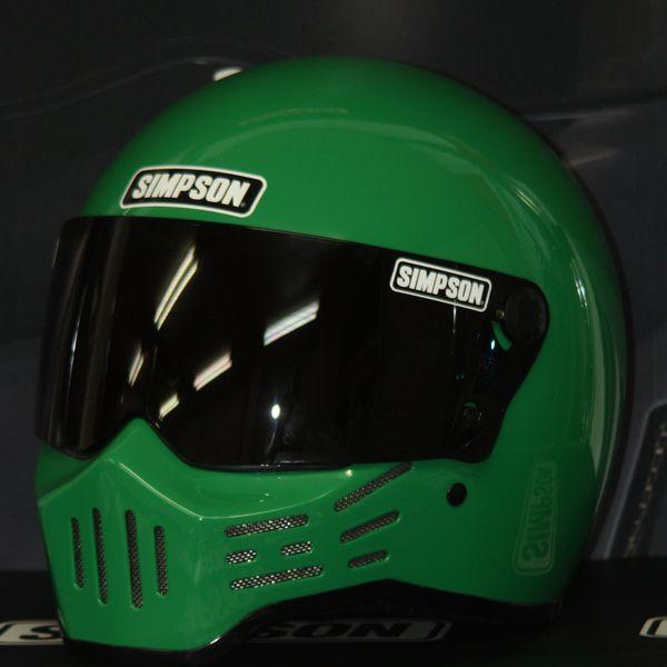 ☆限定カラー☆シールドサービス☆シンプソン(SIMPSON)ヘルメット M30 復刻版 グリーン