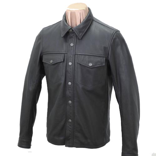 KADOYA(カドヤ)K'S LEATHER  L-SHIRT レザーシャツ 革シャツ