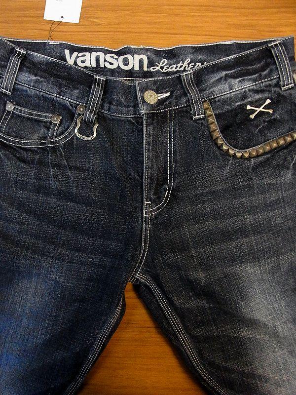 VANSON バンソン デニムジーンズ パンツ ボトムス スカル 刺繍 sp-b-8a